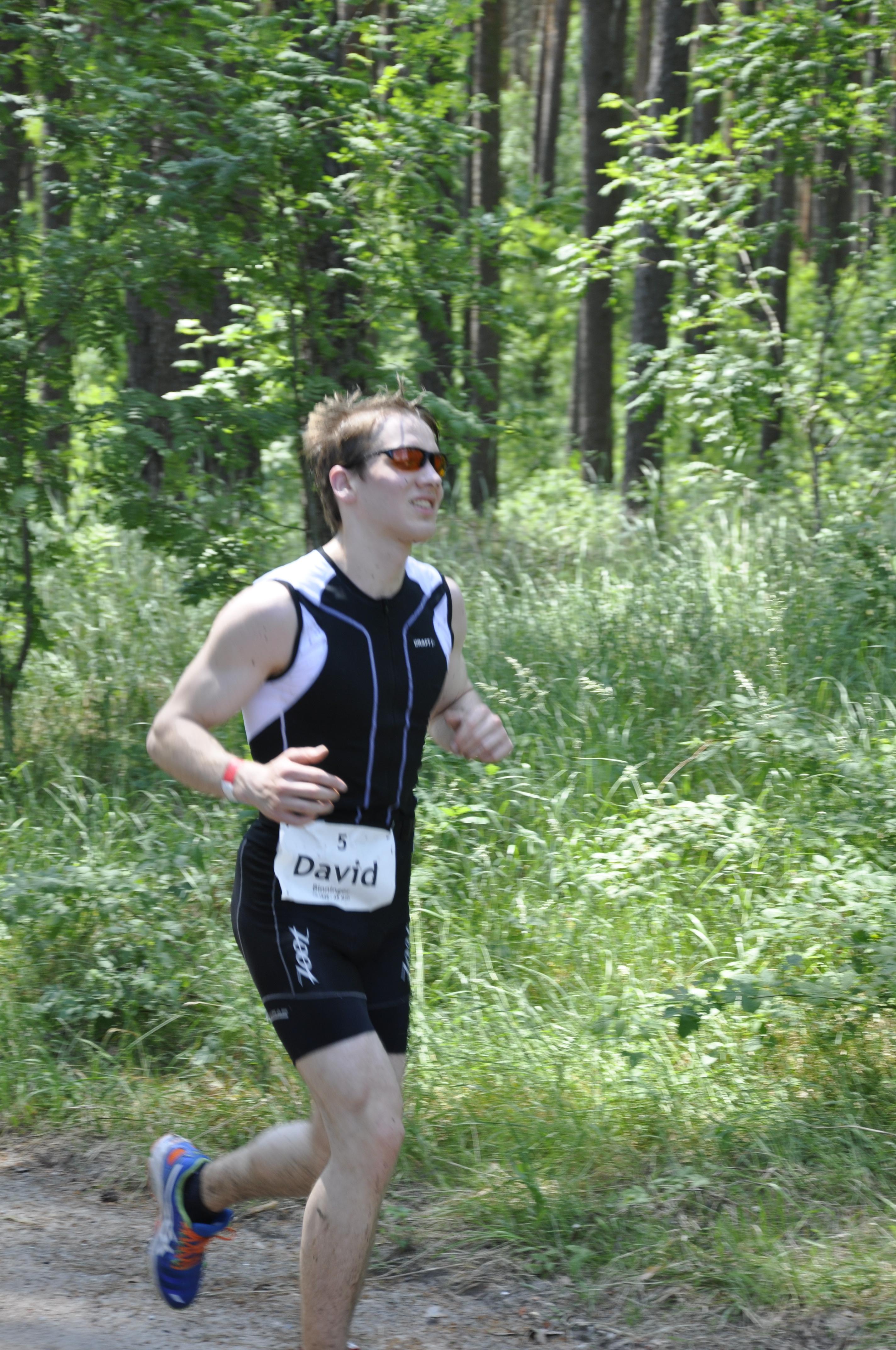 Abschlusskampf beim Laufen
