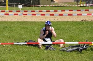 Schorfheide Triathlon - in der Wechselzone